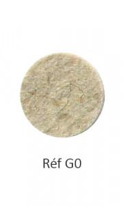 001 - Feutre chiné beige