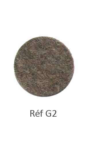 002 - Feutre chiné marron