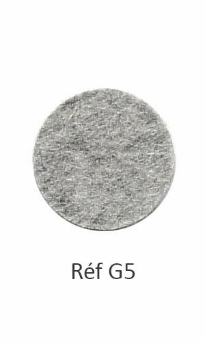 003 - Feutre chiné gris clair